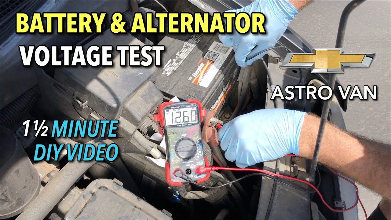 astro van battery alternator voltage test gmc safari 1 1 2 minute diy video [ 1280 x 720 Pixel ]
