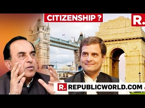 Dr Subramanian Swamy Speaks To Republic TV Following The MHA Issuing Notice To Rahul Gandhi