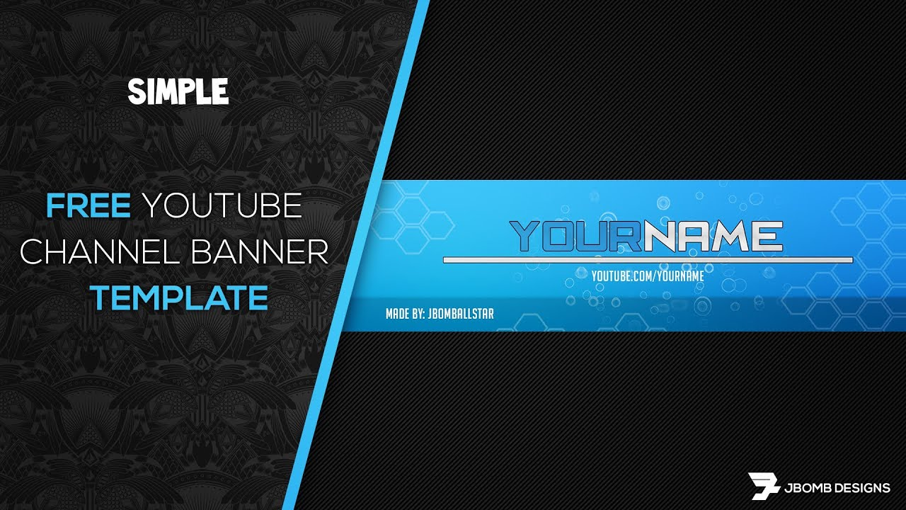 Photoshop free hd youtube channel banner template youtube for Youtube channel picture template