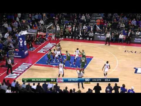 Detroit Pistons | #Trending: Andre Drummond's Buzzer Beater Against the Bucks