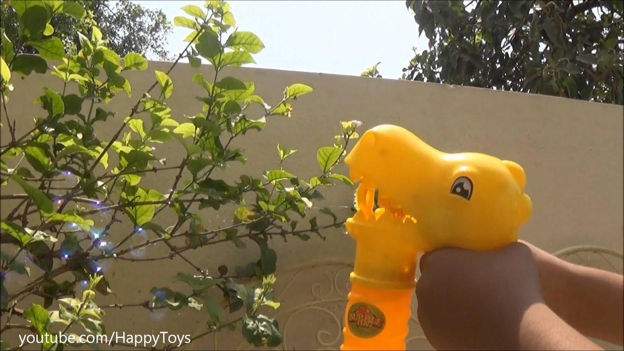 Bubble Maker Toys Dinosaur Bubble Gun - YouTube