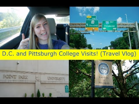 D.C. AND PITTSBURGH COLLEGE VISITS! (TRAVEL VLOG)