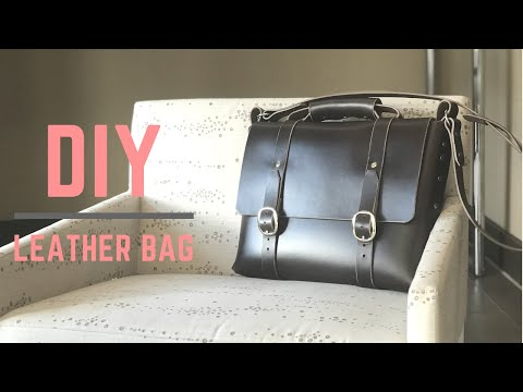 DIY Leather bag - NO SEWING - with pattern - YouTube 83f007f01863e