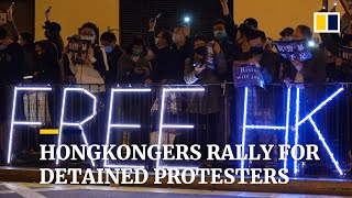 Hongkongers rally for detained protesters
