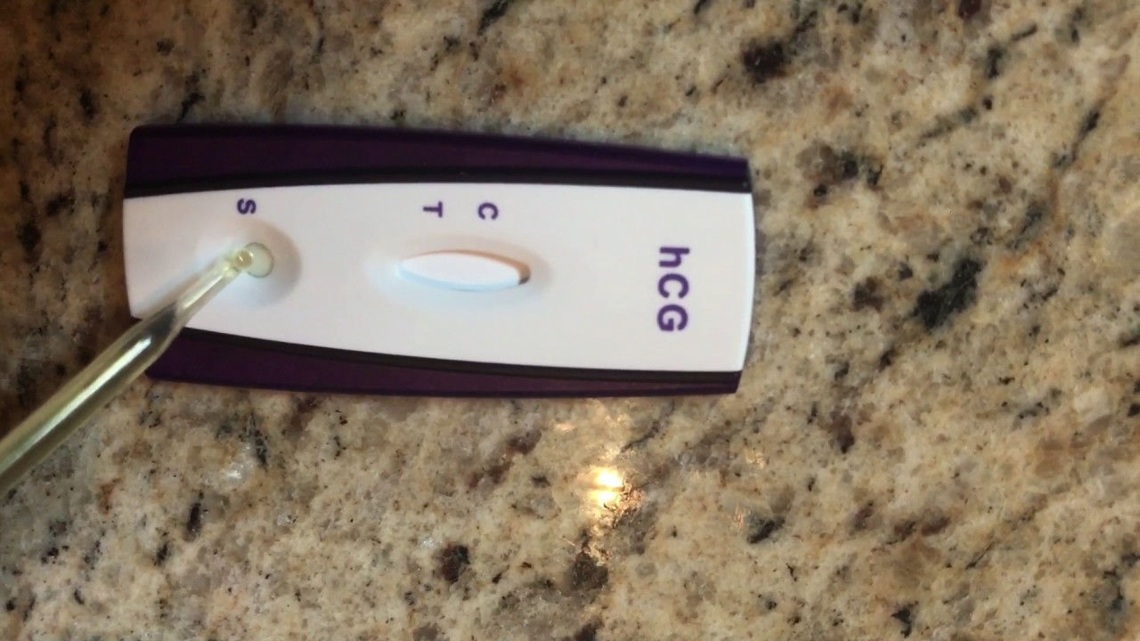 First Signal Pregnancy Test Youtube