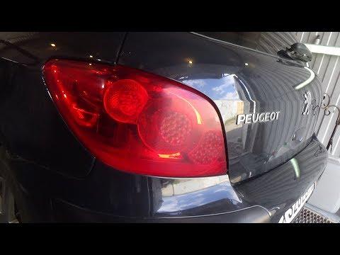 Как снять задние фонари и поменять все лампы. Peugeot 307.