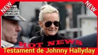 Testament de Johnny Hallyday : Laeticia Hallyday est rentrée à Londres
