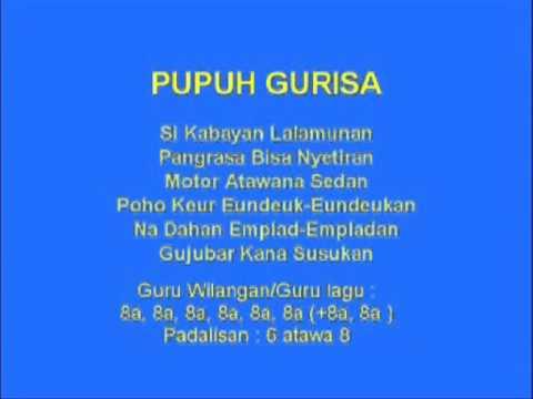 Lagu Sunda dengan Lirik | PUPUH GURISA