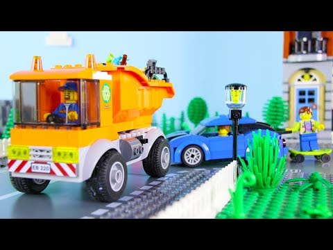 LEGO City Garbage Truck Fail STOP MOTION LEGO City Garbage Dump Site | LEGO City | Billy Bricks