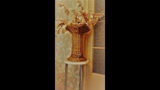 Урок для начинающих!Плетение вазы из бумаги