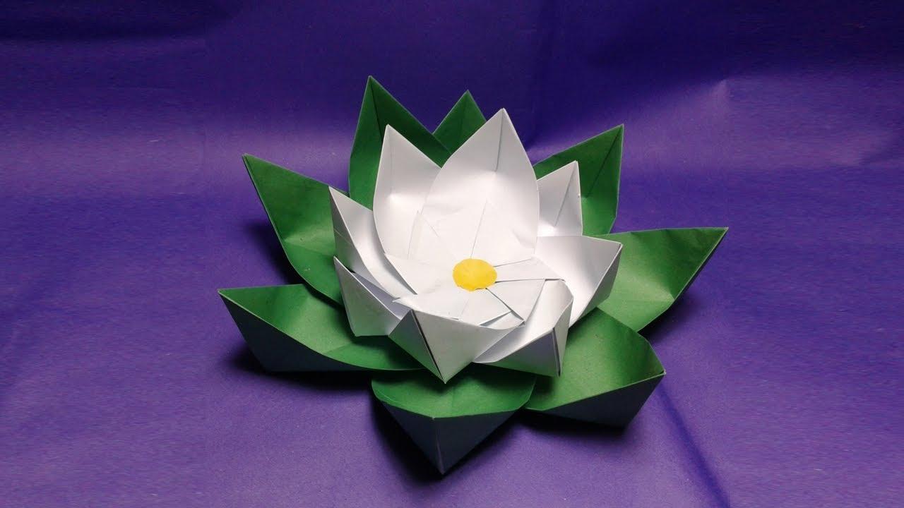 Origami lotus paper flowers diyhow to make easy simple origami origami lotus paper flowers diyhow to make easy simple origami paper flower lotuseasy craft mightylinksfo