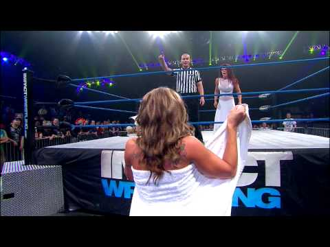 The Knockouts Evening Gown Match: Madison Rayne vs. Angelina Love