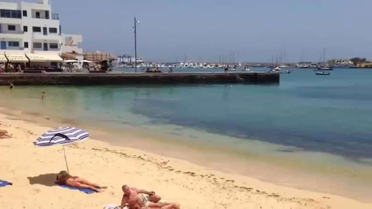 Fuerteventura Corralejo old town beach May 2014 - YouTube