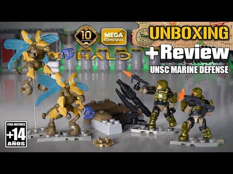 UNSC MARINE DEFENSE   Halo Mega Construx   Unboxing & Review   +14