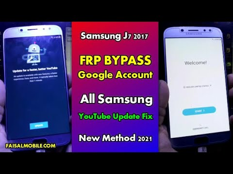 Samsung j7 2017 FRP Bypass Youtube Update Fix 100% All Samsung Android 7