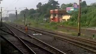 Thundering through Kalipahari, the outskirts of Asansol: Howrah New Delhi Duronto on-board