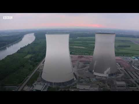 Spectacular demolition at German nuclear site - BBC News