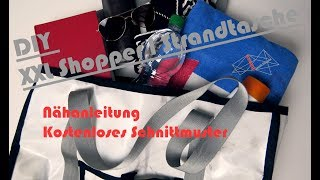 XXL Shopper | DIY Tasche nähen - Kostenlose Nähanleitung