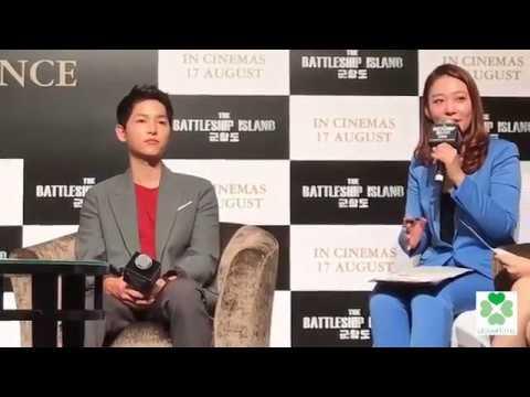 170808 Song Joong Ki So Ji Sub The Battleship Island Press Conference in Singapore 군함도 송중기 소지섭 軍艦島
