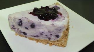 تشيز كيك التوت: الأزرق بالجيلاتين  Blueberry Cheesecake gelati مطبخ أفنان - Afnan's Kitchen