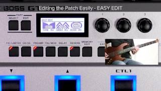 GT-1B Quick Start chapter9 : Editing the Patch Easily - EASY EDIT -