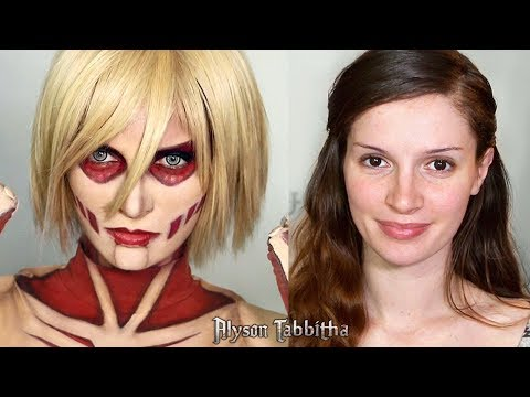 Female Titan (Attack on Titan) Makeup Tranformation - Cosplay Tutorial