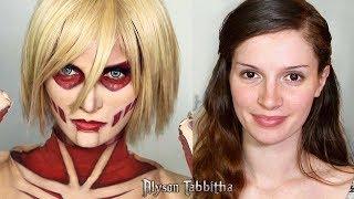 Female Titan Attack on Titan Makeup Tranformation Cosplay Tutorial
