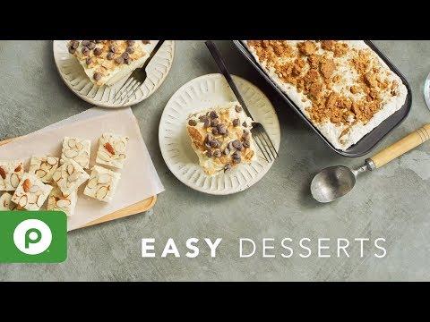 Easy Desserts. Three Publix Aprons recipes.