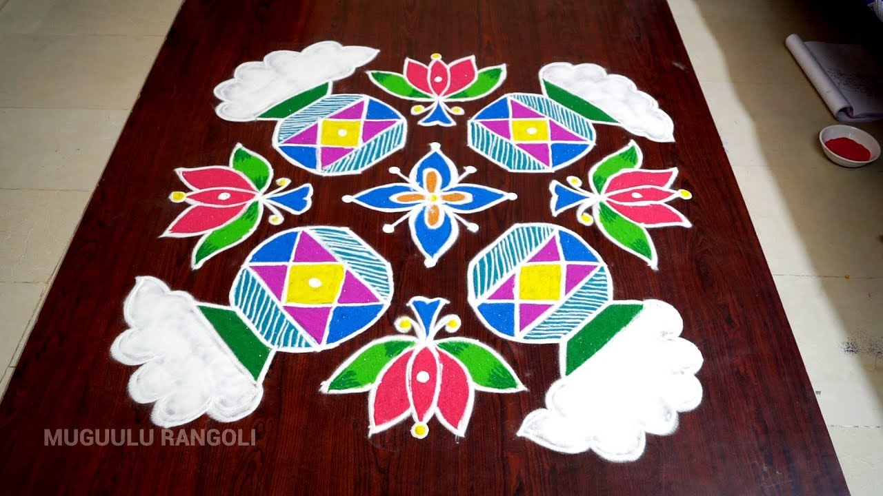Download simple & easy rangoli designs with dots for diwali on pc.