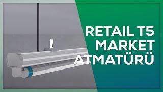 Retail Dar Reflektör Market Armatürü Eğitim Animasyon