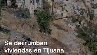 Hundimiento y derrumbes de viviendas en Tijuana - En Punto con Denise Maerker
