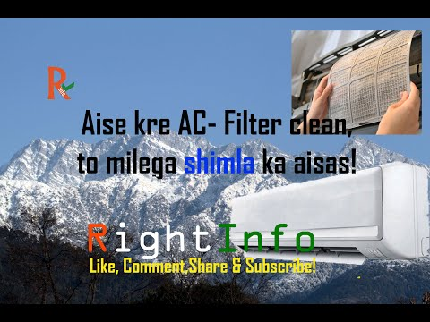 Aise kre AC filter clean, to milega SHIMLA ka cool aisas! | Split AC Filter clean