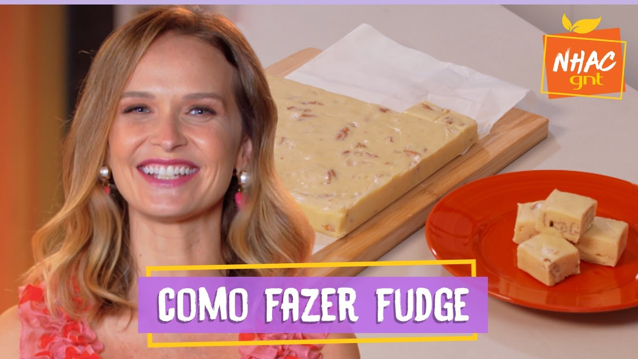 Fudge de chocolate branco com nozes: aprenda a fazer docinho para chá de bebê | Fazendo a Festa