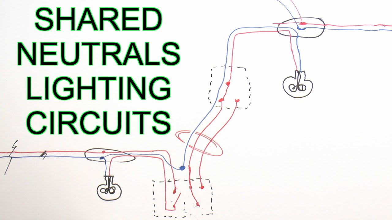 borrowed neutrals & old lighting circuits - youtube common circuit diagram light