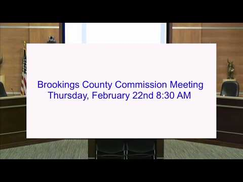 Brookings County Commission 2018-02-22
