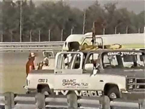 Chip Ganassi & Al Unser Jr Crash Indy Michigan 500 1984