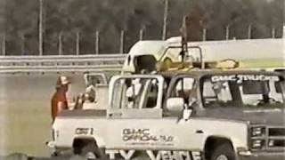 Chip Ganassi & Al Unser Jr Crash Indy Michigan 500 1984