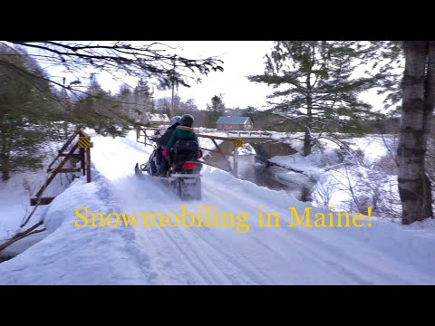 Snowmobiling! Newport To Greenville Maine! 132miles!