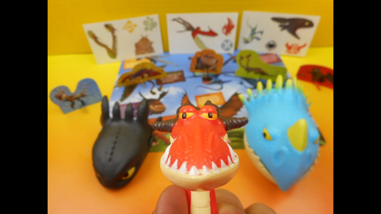 2015 WENDY S DREAMWORKS DRAGONS KIDS MEAL SET OF 5 TOYS VIDEO