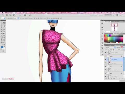 Fabric Rendering In The Esmod Dubai Photoshop Illustrator Course Youtube