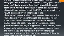 Springhill Group/FHA Warns About Home Equity Mortgage Loan Scams.wmv