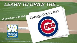 Teaching Kids How to Draw: How to Draw The Chicago Cubs Logo