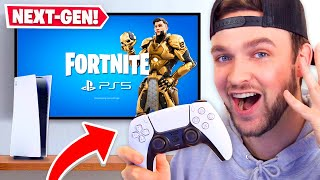 *NEW* NEXT-GEN Fortnite GAMEPLAY! (PS5 + Xbox Series X)