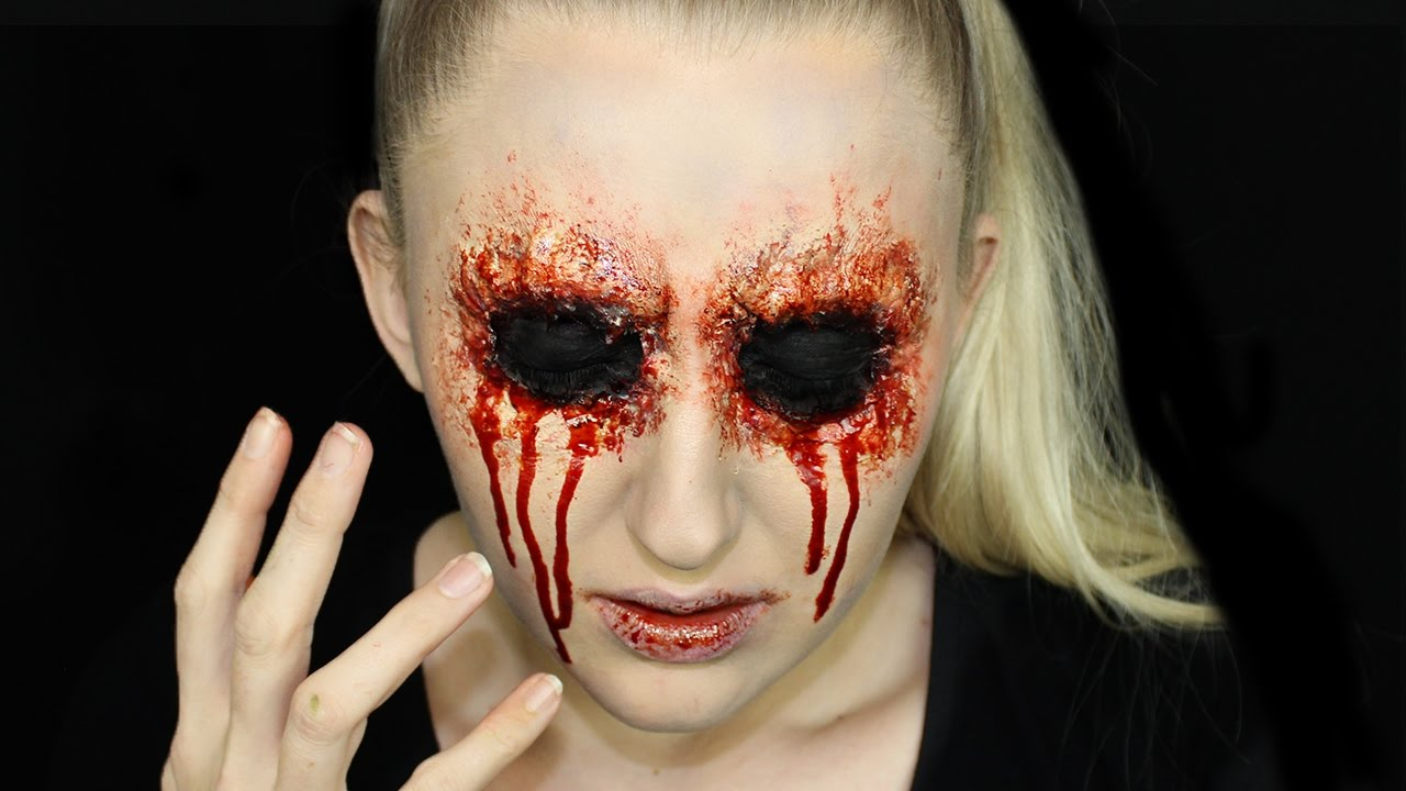 Easy Missing Eye Halloween Makeup Tutorial - YouTube