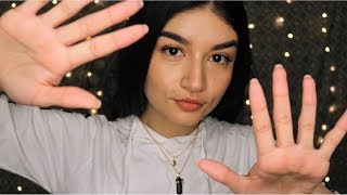ASMR Unintelligible Whispers and Hand Movements (Lots of Mouth Sounds)