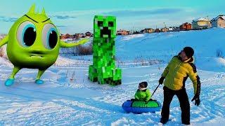 Крипер из игры Майнкрафт стал большим как МУТАНТ Для детей kids children