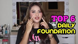 Download Video TOP 6 DAILY FOUNDATION ALA AUREL | DARI MURAH SAMPAI MEHONG! MP3 3GP MP4