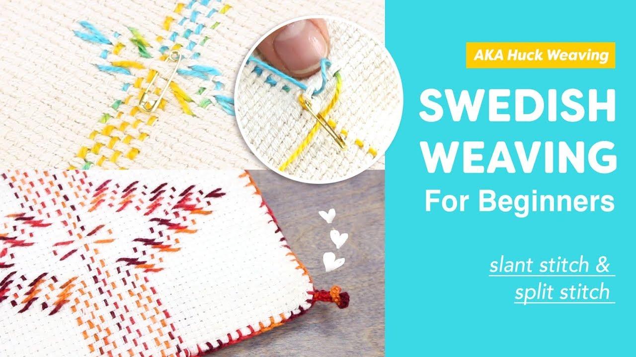 Swedish Weaving Aka Huck Weaving For Beginners Slant Stitch