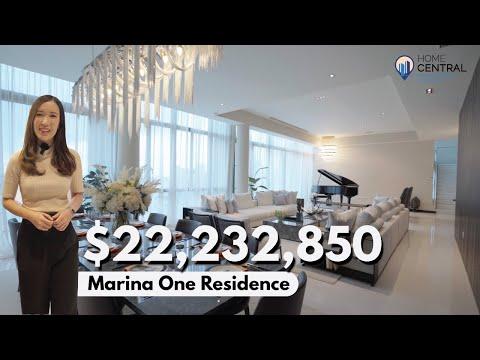 Inside a $22M Duplex Penthouse With Sea Views   Marina One Residences   Singapore Property Tour