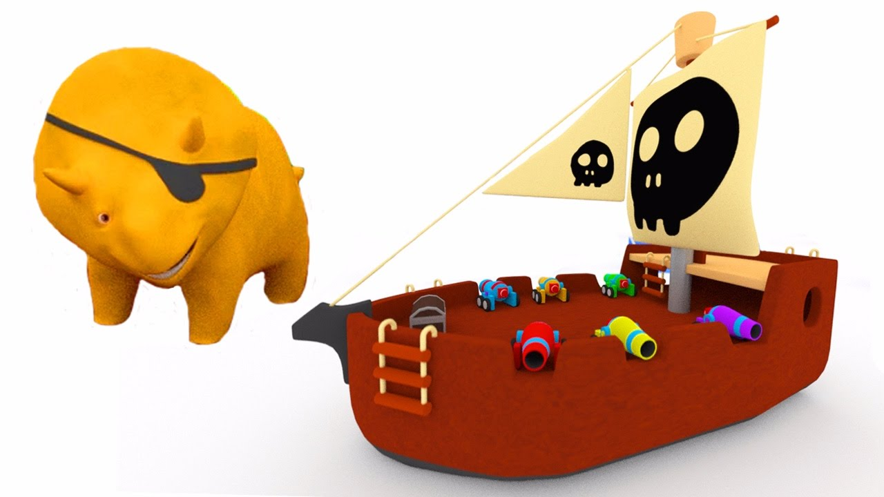 learn colors with the pirate ship and dino the dinosaur